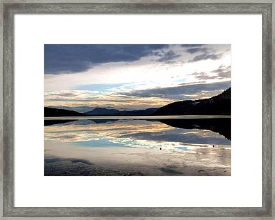 Wood Lake Mirror Image Framed Print by Will Borden