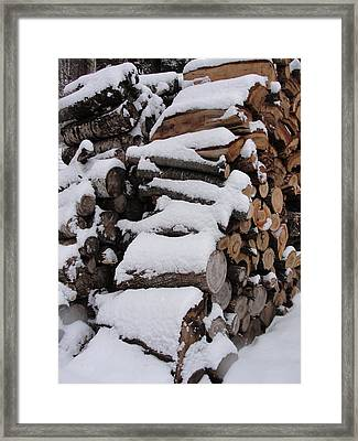 Framed Print featuring the photograph Wood Pile by Tiffany Erdman