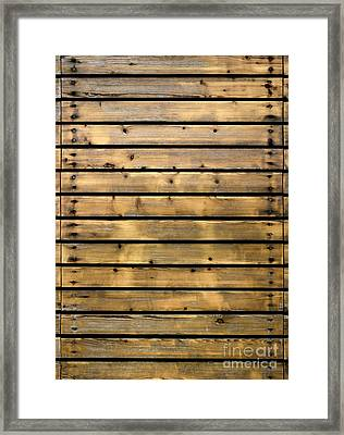 Wood Planks Framed Print by Carlos Caetano