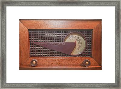 Wood Radio Framed Print by Matthew Bamberg