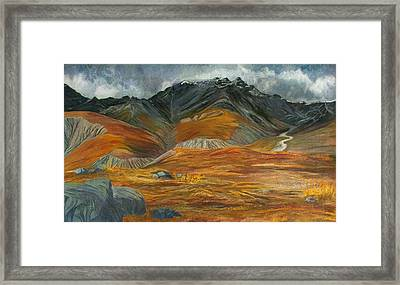 Wood  River Autumn Framed Print by Amy Reisland-Speer