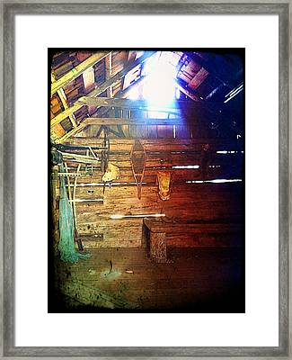 Wood Shed Framed Print by Jeff Ford