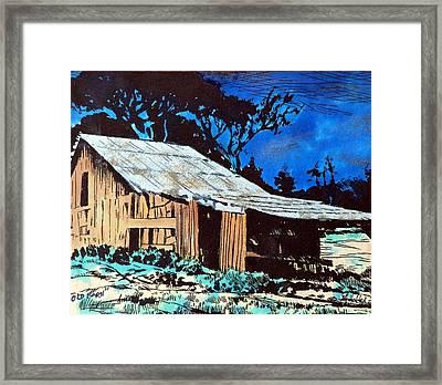 Wood Shed Framed Print by Mike Holder