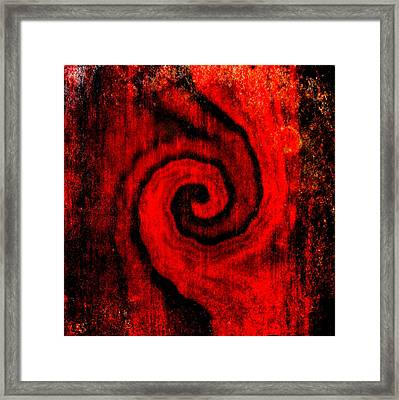 Framed Print featuring the painting Wood by Susan  Solak