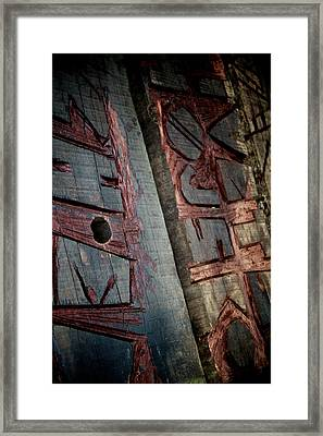 Wood Tattoo Framed Print by Odd Jeppesen