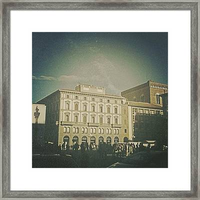 #woodcamera #florence #iphoneography Framed Print by Andrea Bigiarini