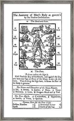 Woodcut, 1750 Framed Print by Science Source