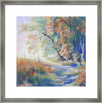 Wooded Path Framed Print