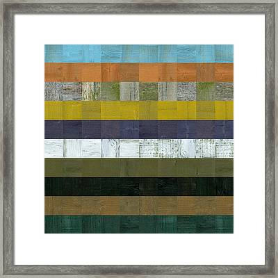 Wooden Abstract L Framed Print by Michelle Calkins