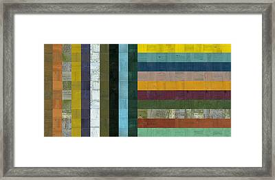 Wooden Abstract Vl  Framed Print by Michelle Calkins