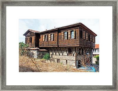Wooden And Stone House Framed Print by Tony Murtagh