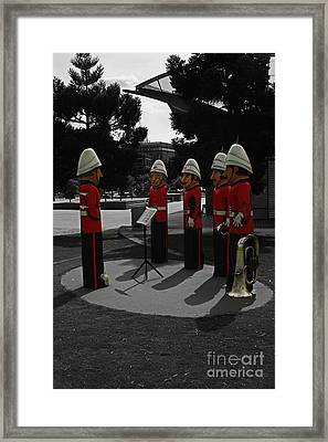 Framed Print featuring the photograph Wooden Bandsmen by Blair Stuart