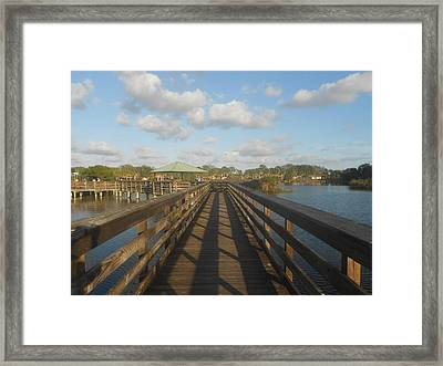 Wooden Bridge  Framed Print by Sheila Silverstein