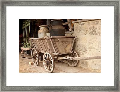 Wooden Cart Framed Print