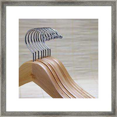 Wooden Clothes Hangers Framed Print
