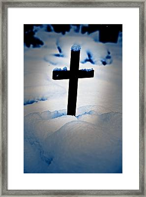 Wooden Cross Framed Print
