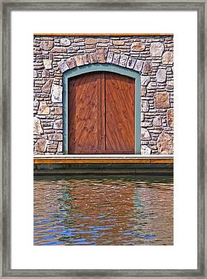 Wooden Door Framed Print by Susan Leggett