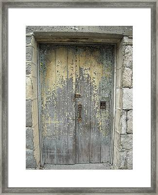 Framed Print featuring the photograph Wooden Doors by Christophe Ennis