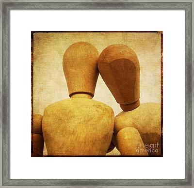 Wooden Figurines Framed Print by Bernard Jaubert
