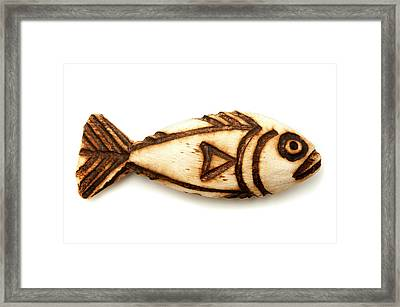 Wooden Fish Framed Print by Fabrizio Troiani