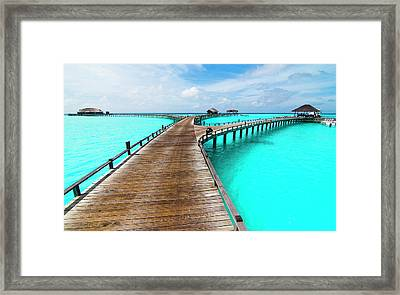 Wooden Jetty Framed Print by Luismaxx
