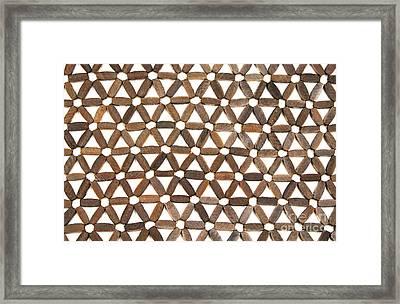 Wooden Pattern Framed Print