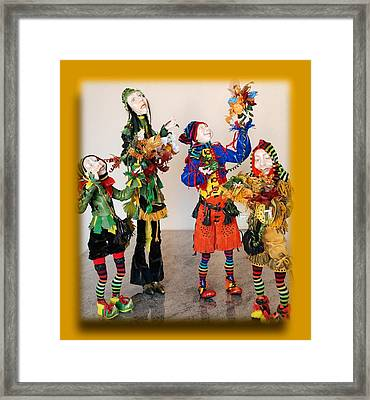 Wooden People Framed Print by Nataly Fomina