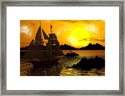 Wooden Ships Framed Print by Robert Orinski