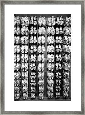 Wooden Shoes Framed Print