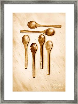 Wooden Spoons Framed Print by HD Connelly