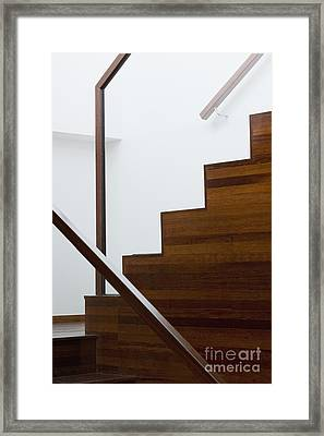 Wooden Staircase Framed Print by Shannon Fagan