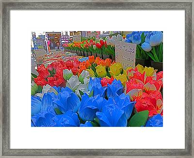 Wooden Tulips Framed Print