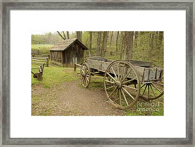 Wooden Wagon Framed Print by Cindy Manero
