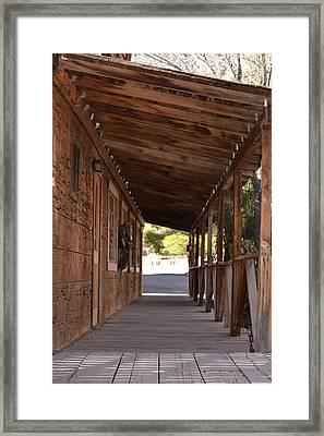 Wooden Walk Framed Print