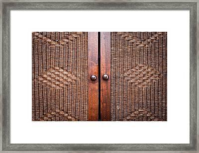 Wooden Wardroabe Framed Print by Tom Gowanlock