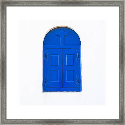 Wooden Window Framed Print