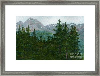 Woodland Overlook Framed Print by Vikki Wicks
