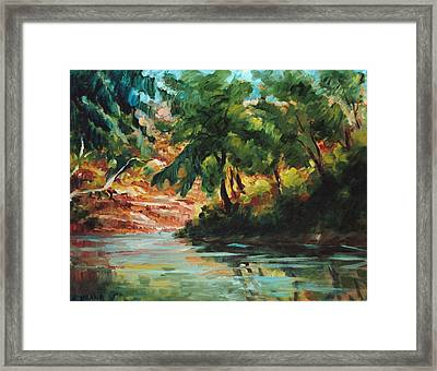 Woodland Stream Framed Print by Ethel Vrana