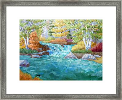 Woodland Stream Framed Print by Irene Hurdle
