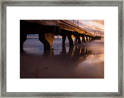 Woodman Point Jetty Framed Print by Heather Thorning