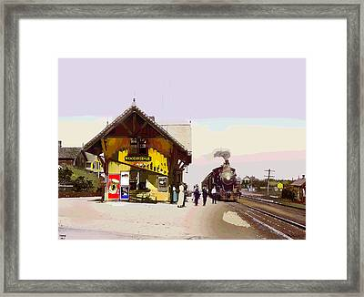 Woodridge Depot Framed Print by Charles Shoup