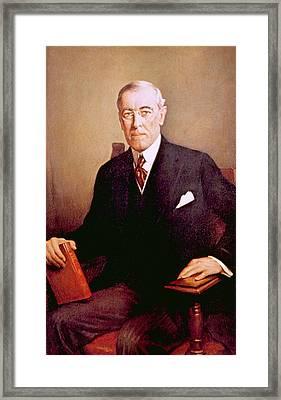 Woodrow Wilson 1856-1924, U.s Framed Print by Everett