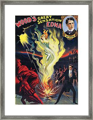 Wood's Great Sensation Edna Framed Print by Unknown