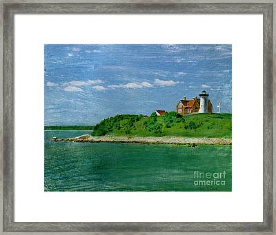 Woods Hole Lighthouse Framed Print by Bob Senesac
