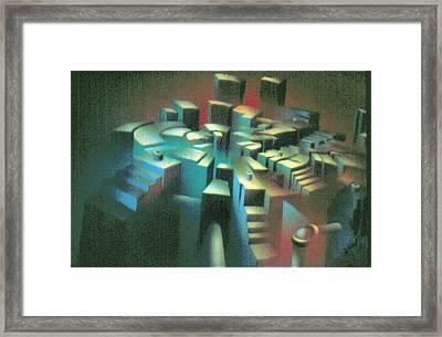 Woodscape 1980 Framed Print by Glenn Bautista