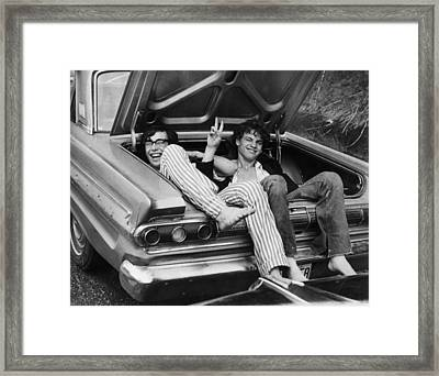 Woodstock Hitchers Framed Print by Three Lions