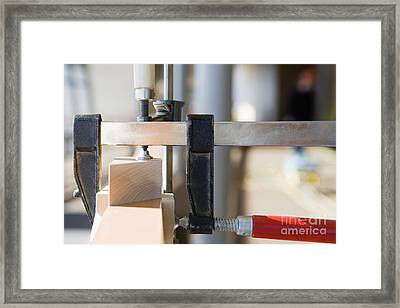 Woodworking Clamps Framed Print by Andersen Ross