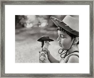 Woody Framed Print by Laura Leonard