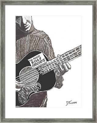 Woody Sez Framed Print
