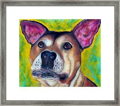 Woof Woof Framed Print by Laura  Grisham